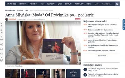 Ogólnopolskie wydanie Dziennika Zachodniego – Anna Młyńska: Moda? Od Próchnika po… pediatrię