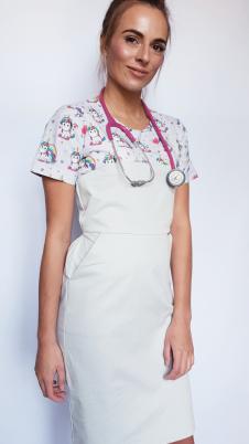 Sukienka medyczna wzór jednorożce EFIMED