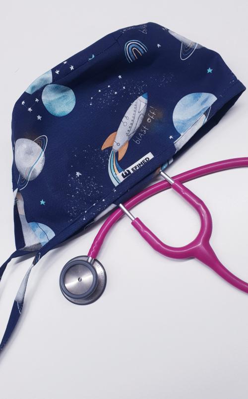 Czepek chirurgiczny wzór kosmos EFIMED