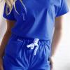 Bluza medyczna damska taliowana 3 kieszenie super oddychająca z nitką węglową różne kolory EFIMED